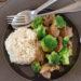 Geschnetzeltes mit Brokkoli und Reis