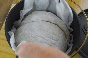 Roggenmischbrot ohne Sauerteig - Backen im Topf ohne Hefe